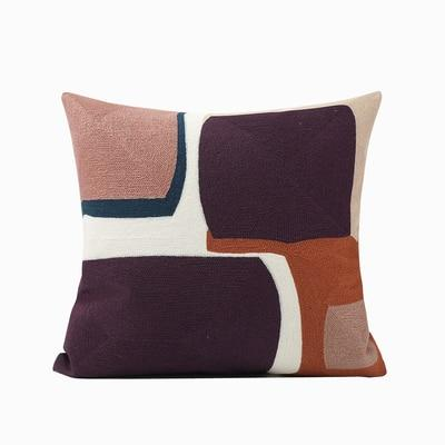 Modern Retro Geometric Decorative Embroidery Cushion Pillow Cover - Mia & Stitch