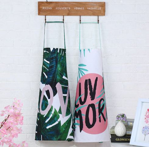 Cactus leaf plant pattern apron kitchen cooking set home accessories - Mia & Stitch