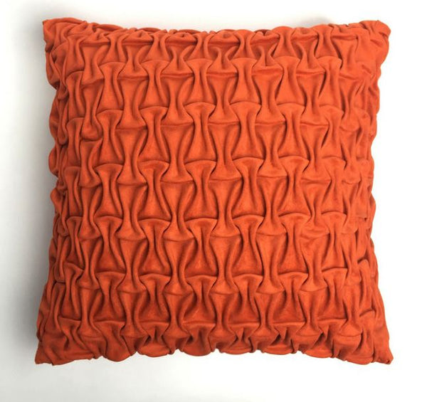 Cushion Cover - Handmade box-pleated Suede pillow case - Mia & Stitch