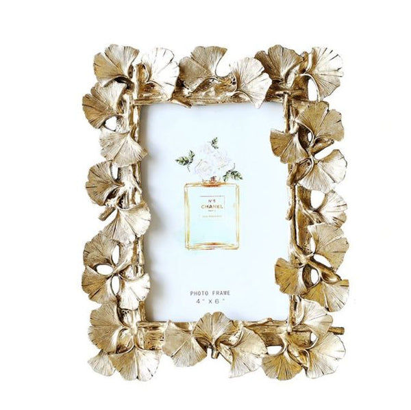 Vintage gold ginkgo leaf photo frame europe style home decoration - Mia & Stitch