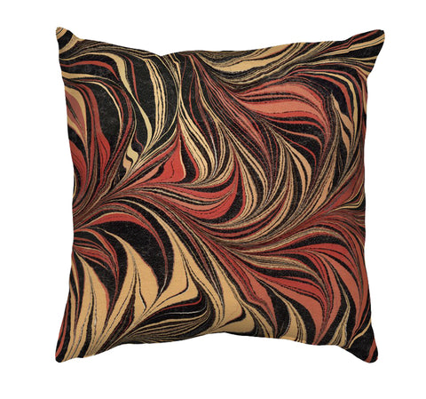 Printed Cushion Cover - Marble Painting in Browns - Mia & Stitch