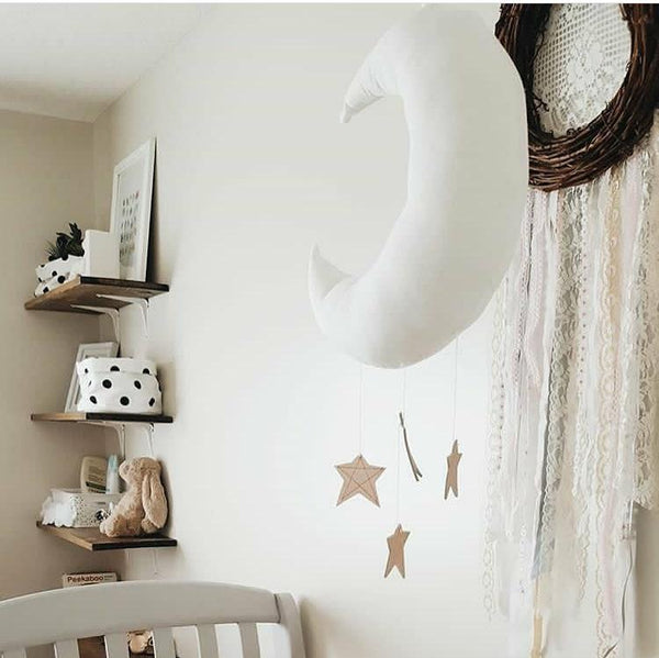 Baby Mobile Moon and Stars Soft Toys Nursery Kids Room Decor - Mia & Stitch