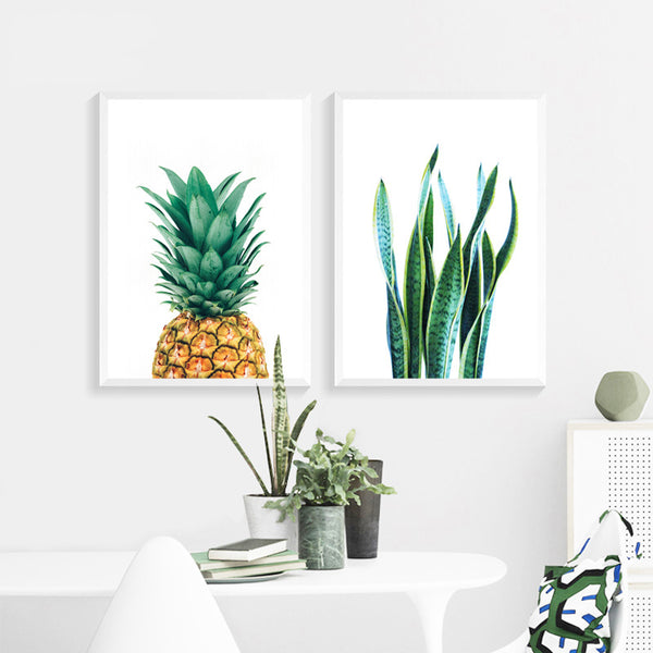 Cactus Pineapple Plant Wall Art Print - Mia & Stitch