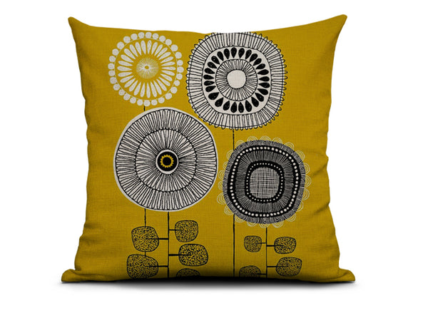 Mix & Match Cushion Covers - Modern Retro Geometrics and Florals - Mia & Stitch