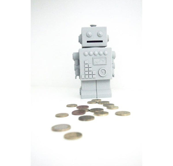 Mr Robert Silicone Robot Money Box Nursery Boy or Girl Gift Kids Decor - Mia & Stitch