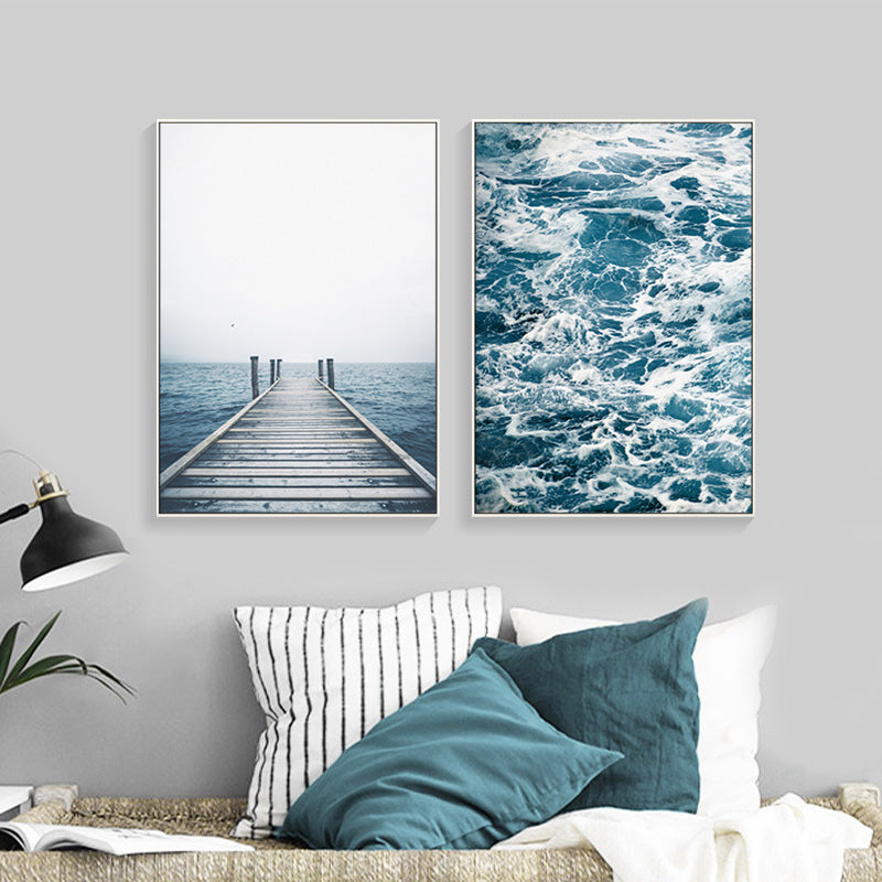 The Sea Wall Art Canvas Decorative Pictures Poster Print Wall Art Room Decor - Mia & Stitch