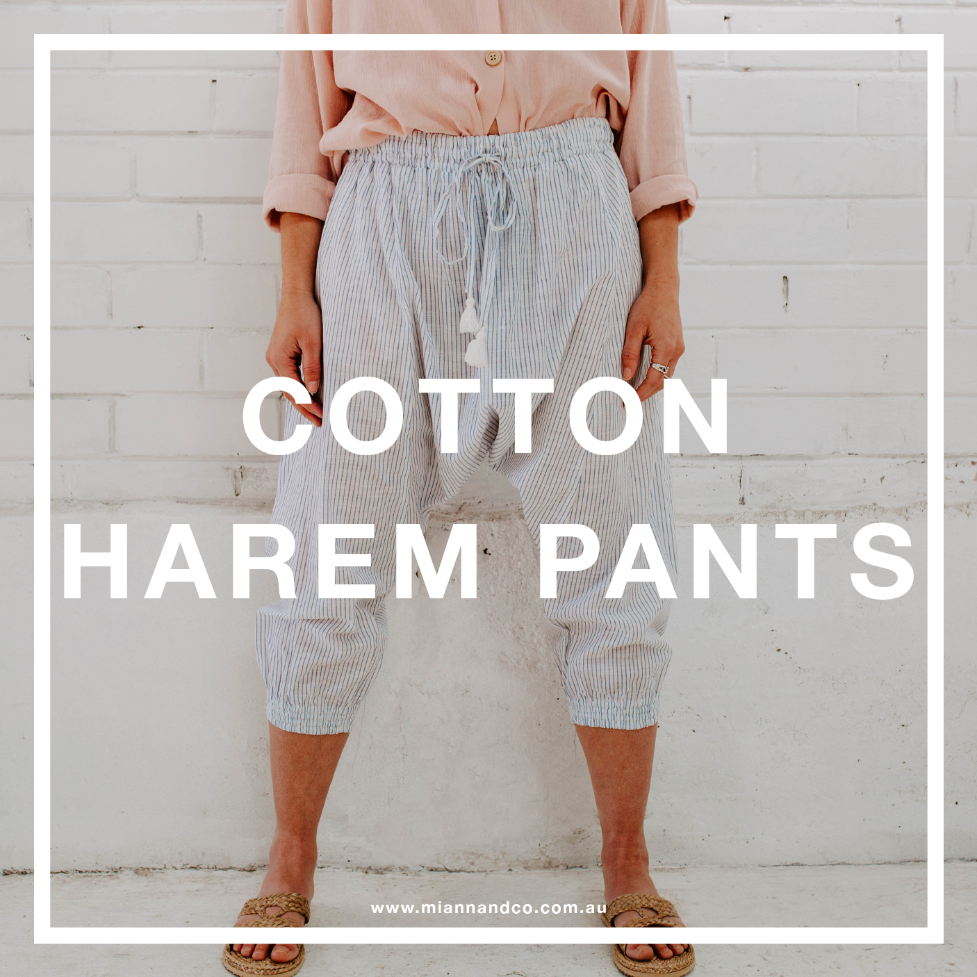COTTON HAREM PANT