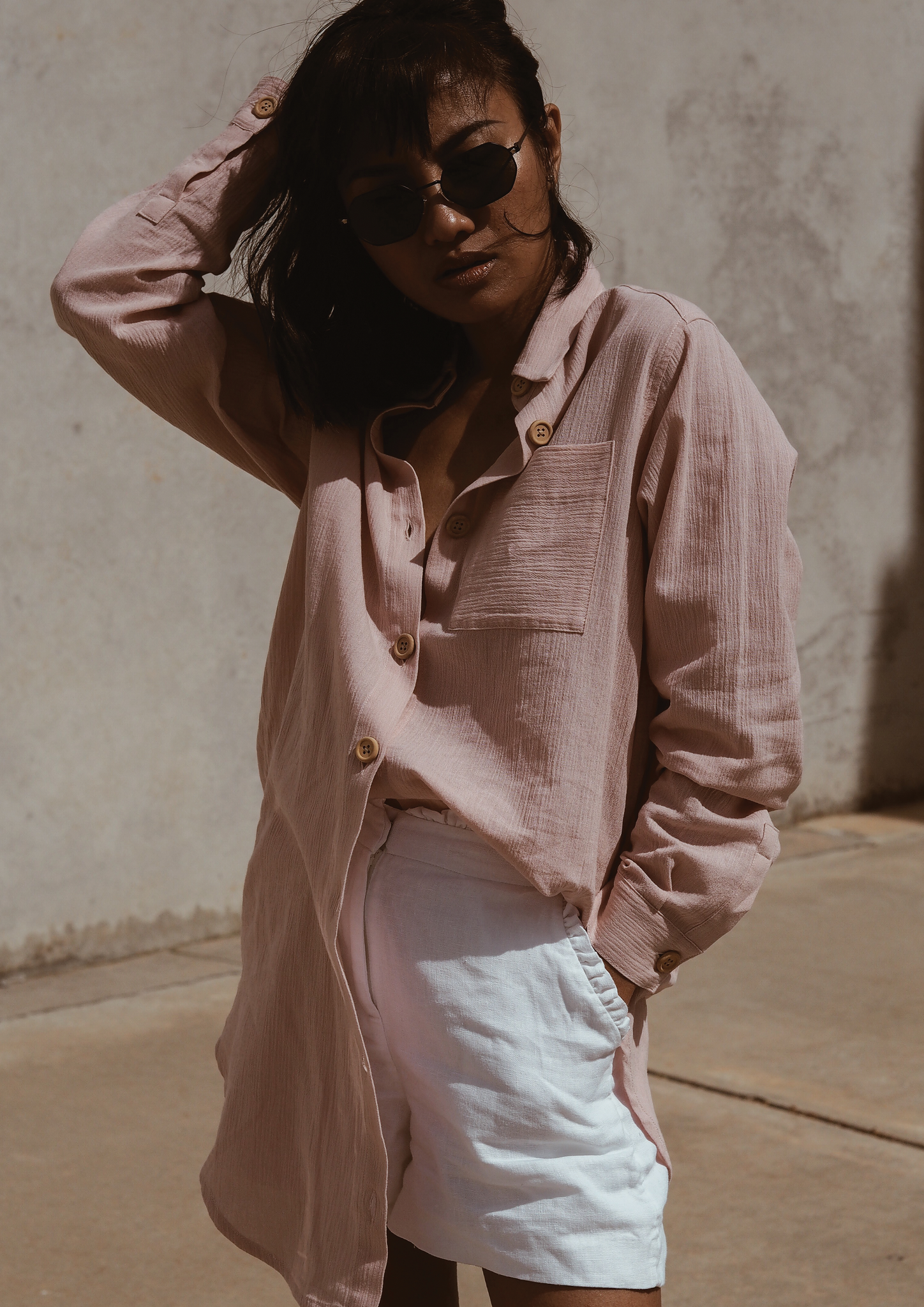 PHOEBE SHIRT DUSTY PINK