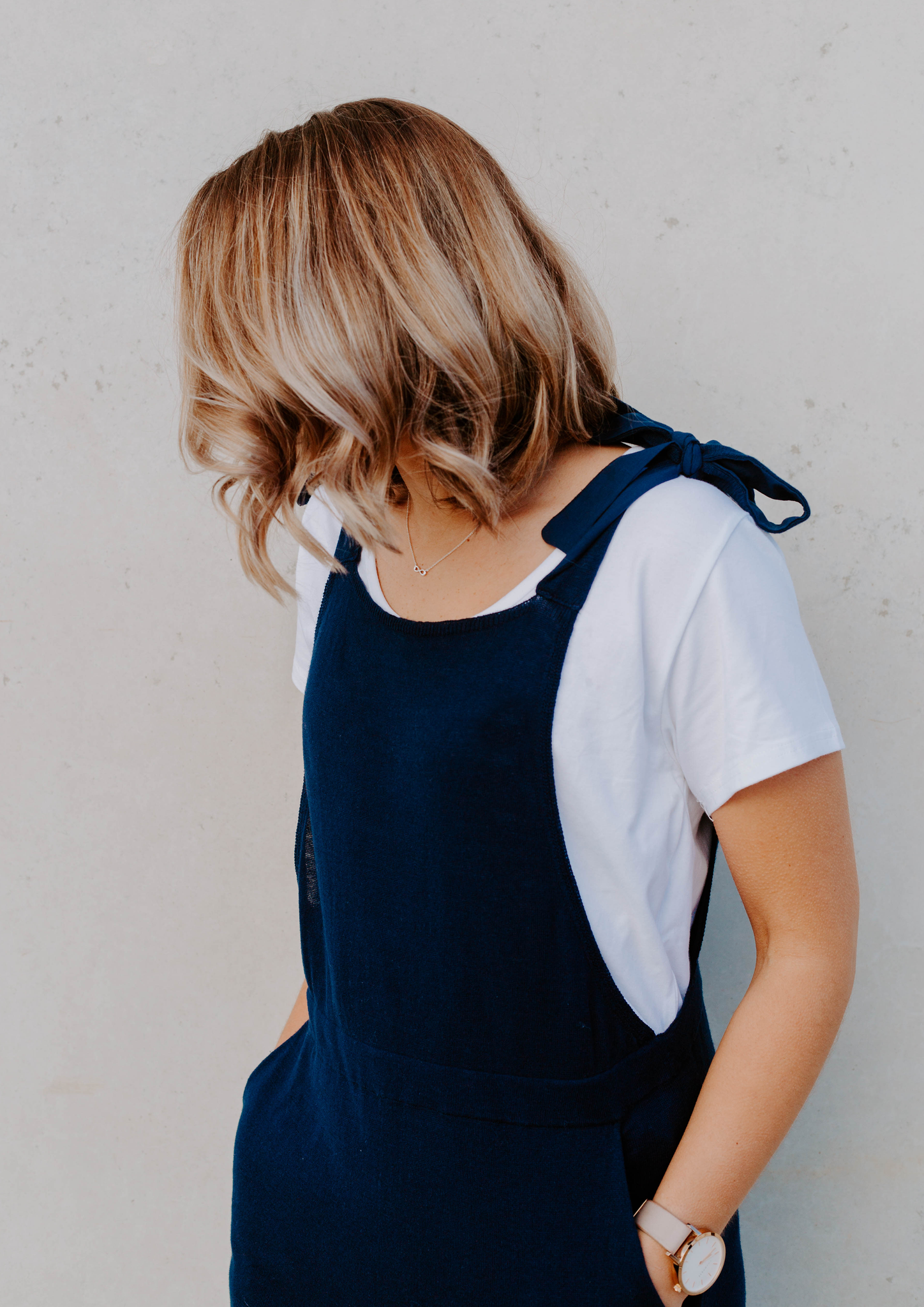 audrey knit jumpsuit navy