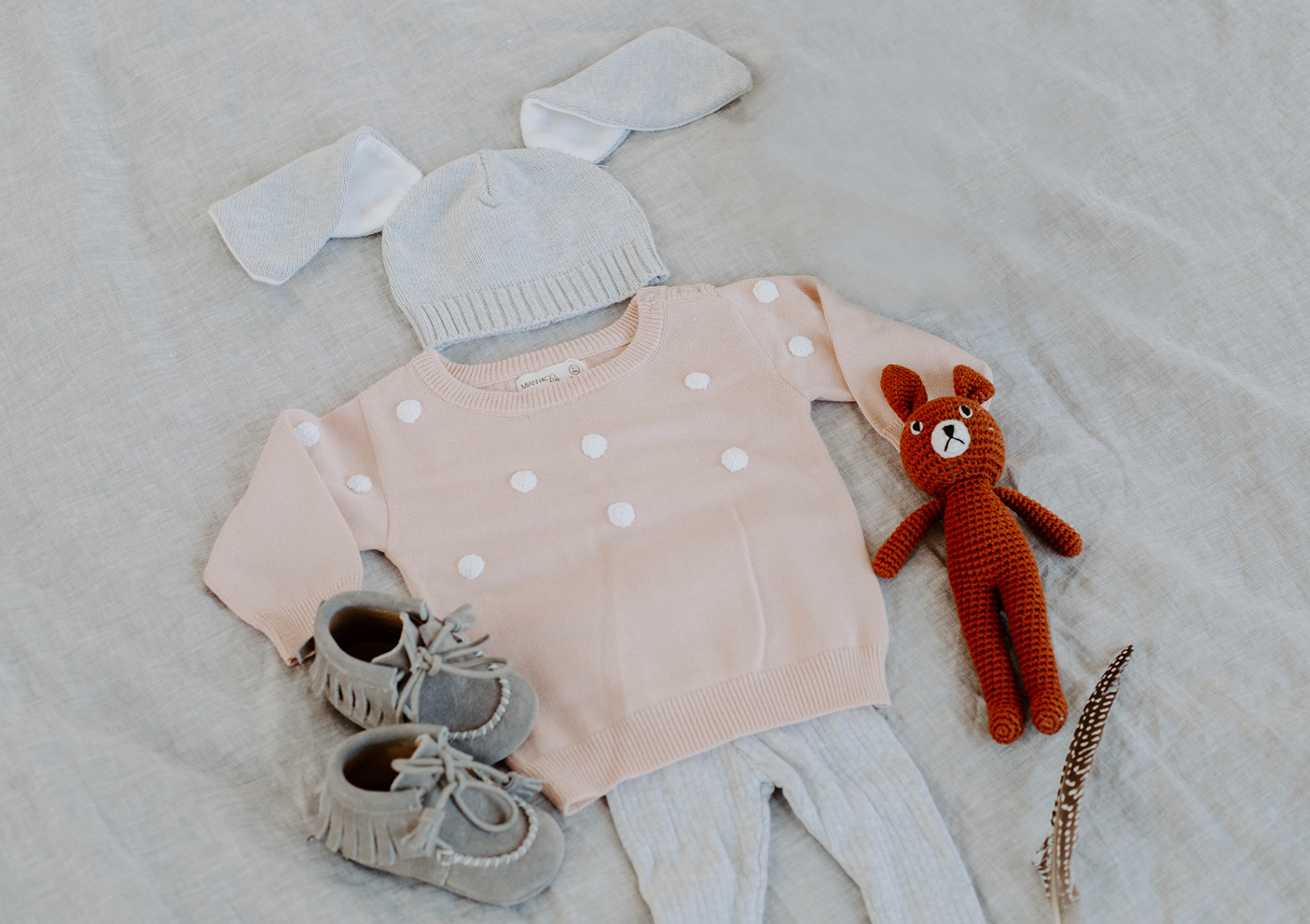 dusty pink dot jumper