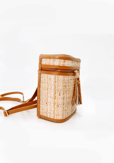 Miann & Co Womens - Hayley Rattan Backpack - Butterscotch
