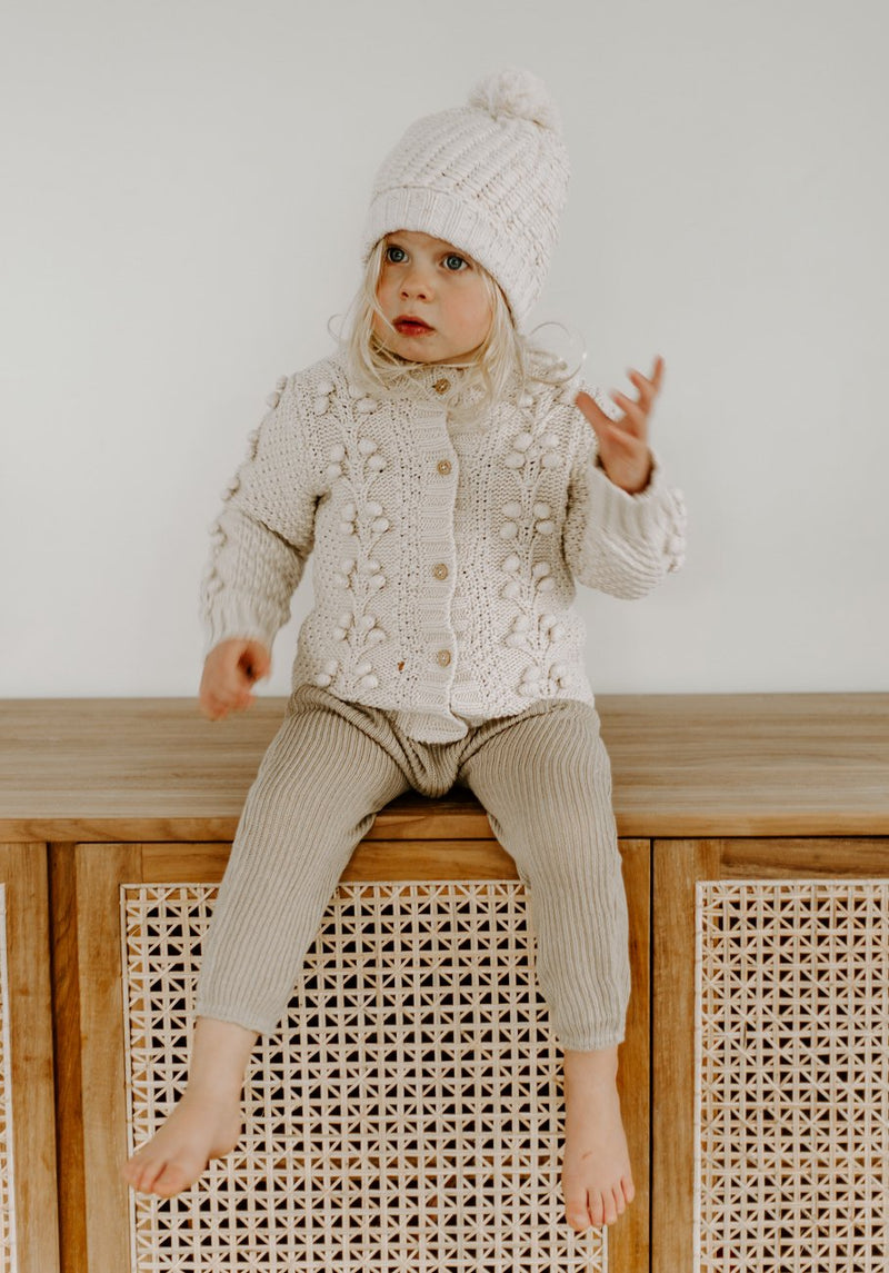 Miann & Co Kids - Cable Knit Cardigan - Biscotti