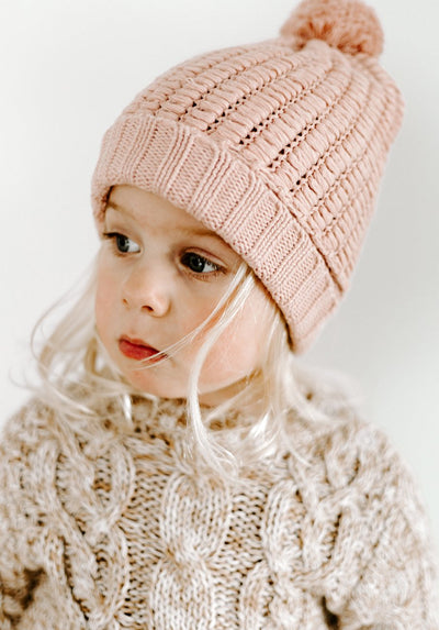 Miann & Co Baby/Kids - Chunky Knit Beanie - Evening Sand
