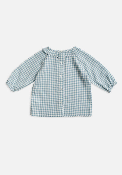 Baby blue gingham shirt