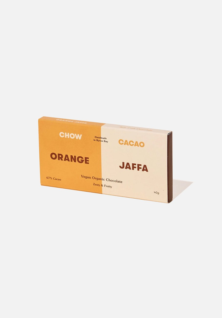 Chow Cacao - Vegan Organic Chocolate - Orange Jaffa