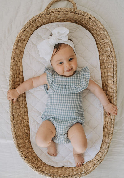 Miann & Co Baby - Ruffle Bodysuit - Cornflower Gingham