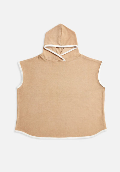 Miann & Co - Terry Towelling Hooded Poncho - Clay