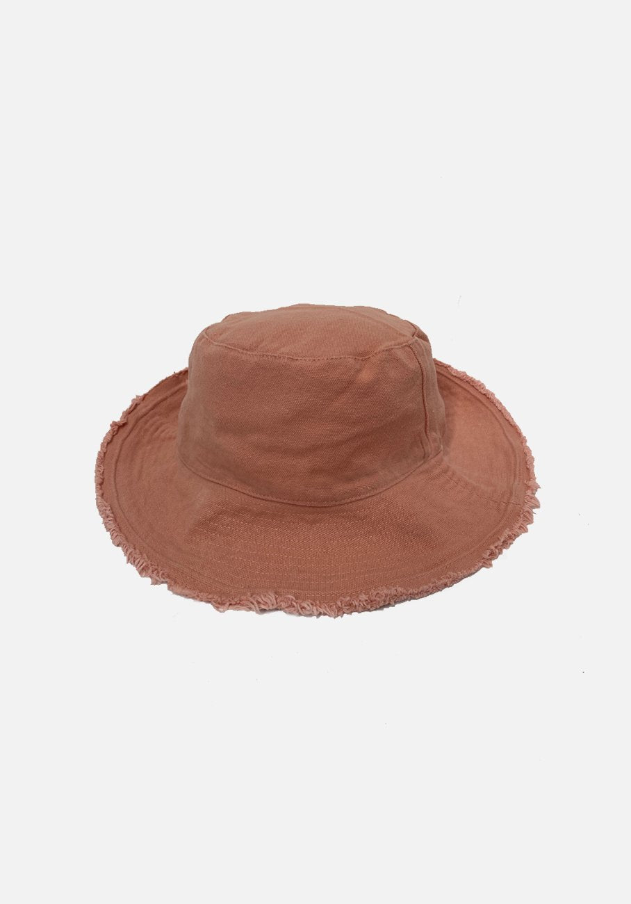 Miann & Co - Womens Bucket Hat - Peach Pink