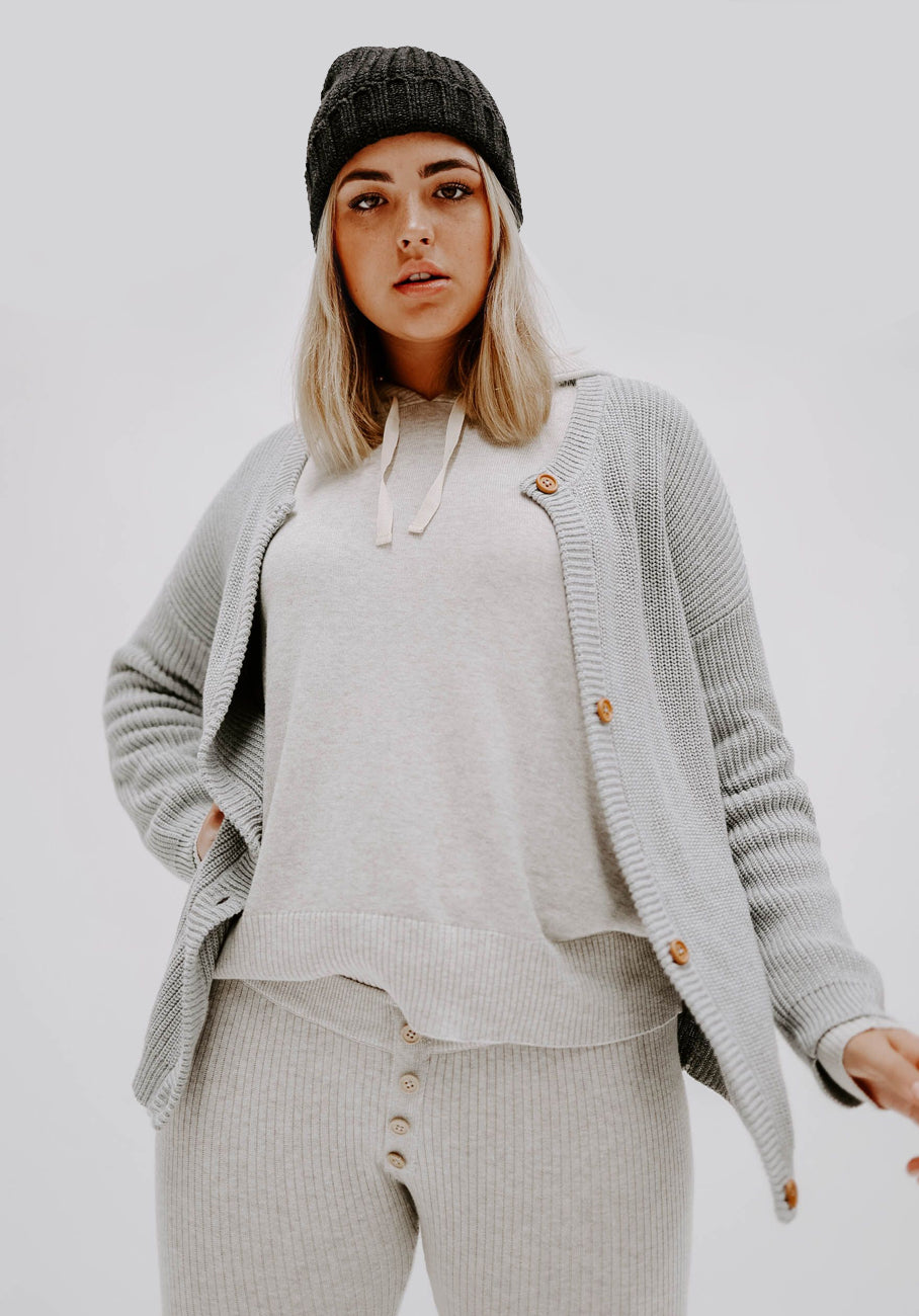 Miann & Co Womens Loungewear - Oakley Knit Cardigan - Cloud