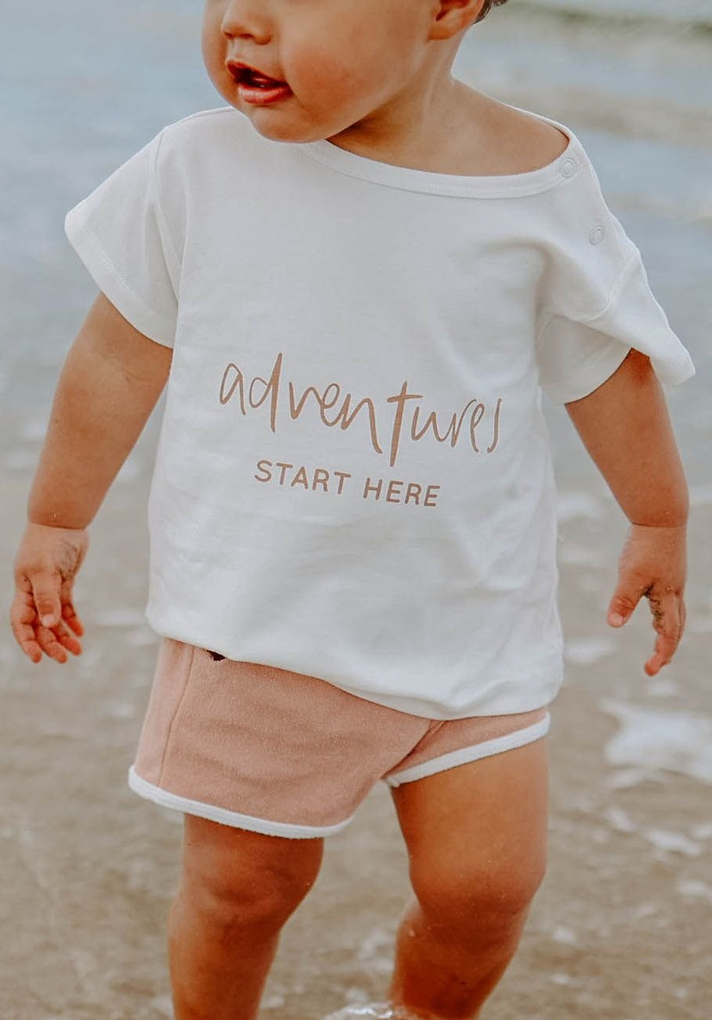Miann & Co Baby - Boxy T-Shirt - Adventures Start Here