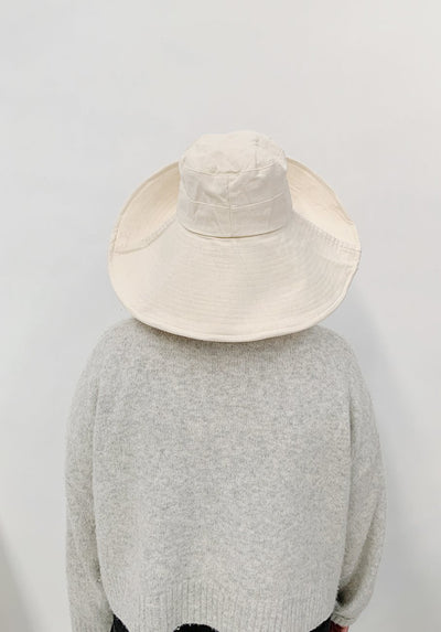 Miann & Co Womens - Wide Brim Sun Hat - Sand