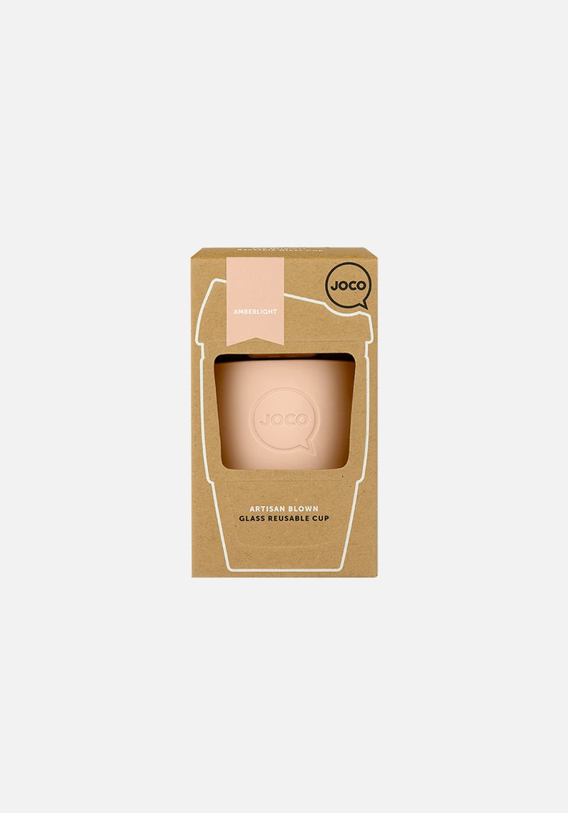 JOCO - Reusable Glass Cup - Amberlight 177ml