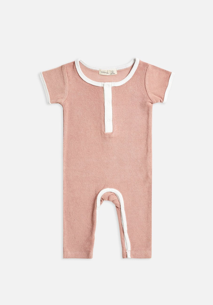 Miann & Co Kids - Terry Towelling Boilersuit - Blush