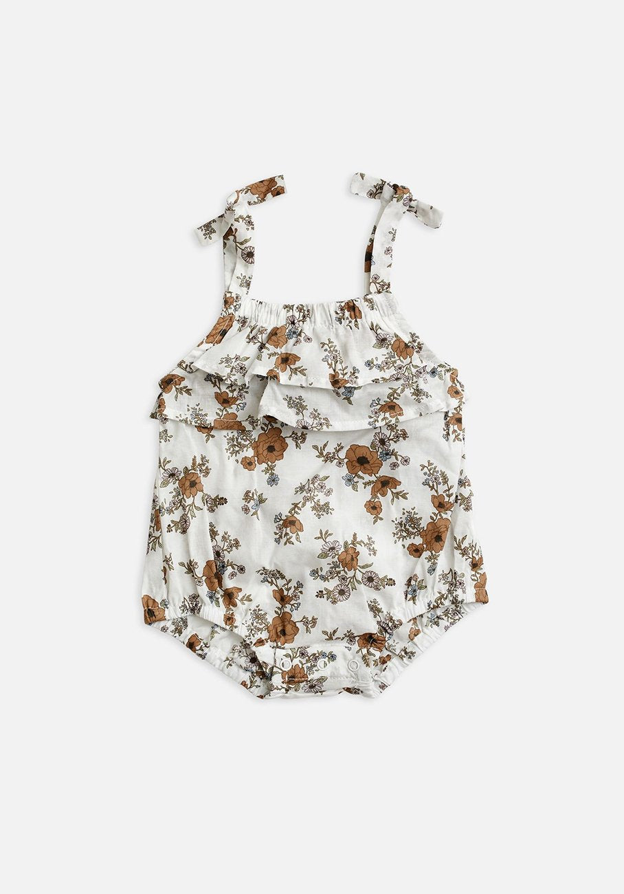 Baby floral tie shoulder bodysuit