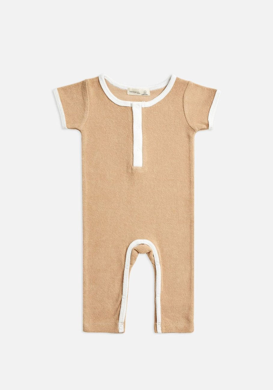 Miann & Co Baby - Terry Towelling Boilersuit - Clay