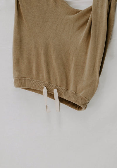 Womens ochre knit pant