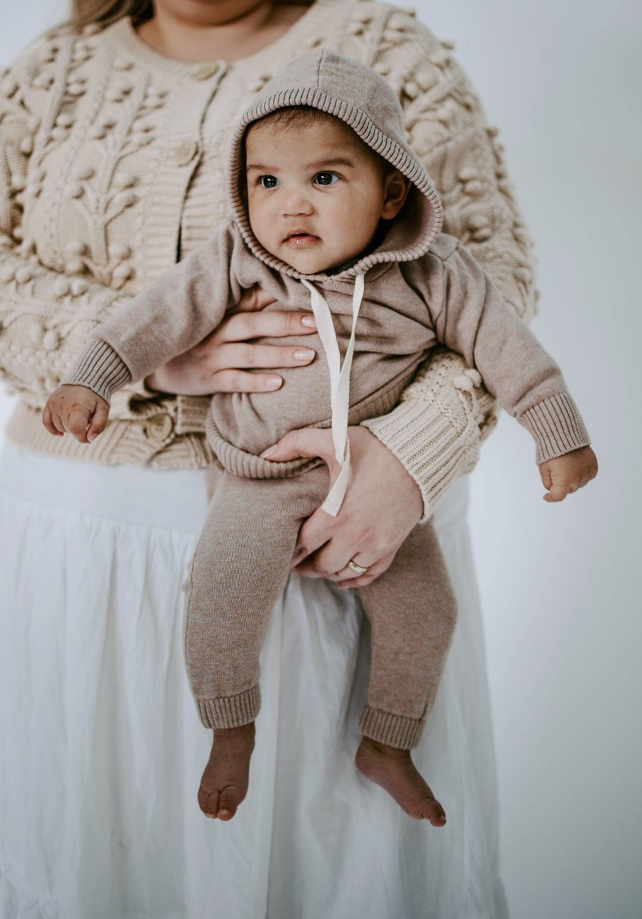 Miann & Co Baby - Knitted Hoodie - Clove