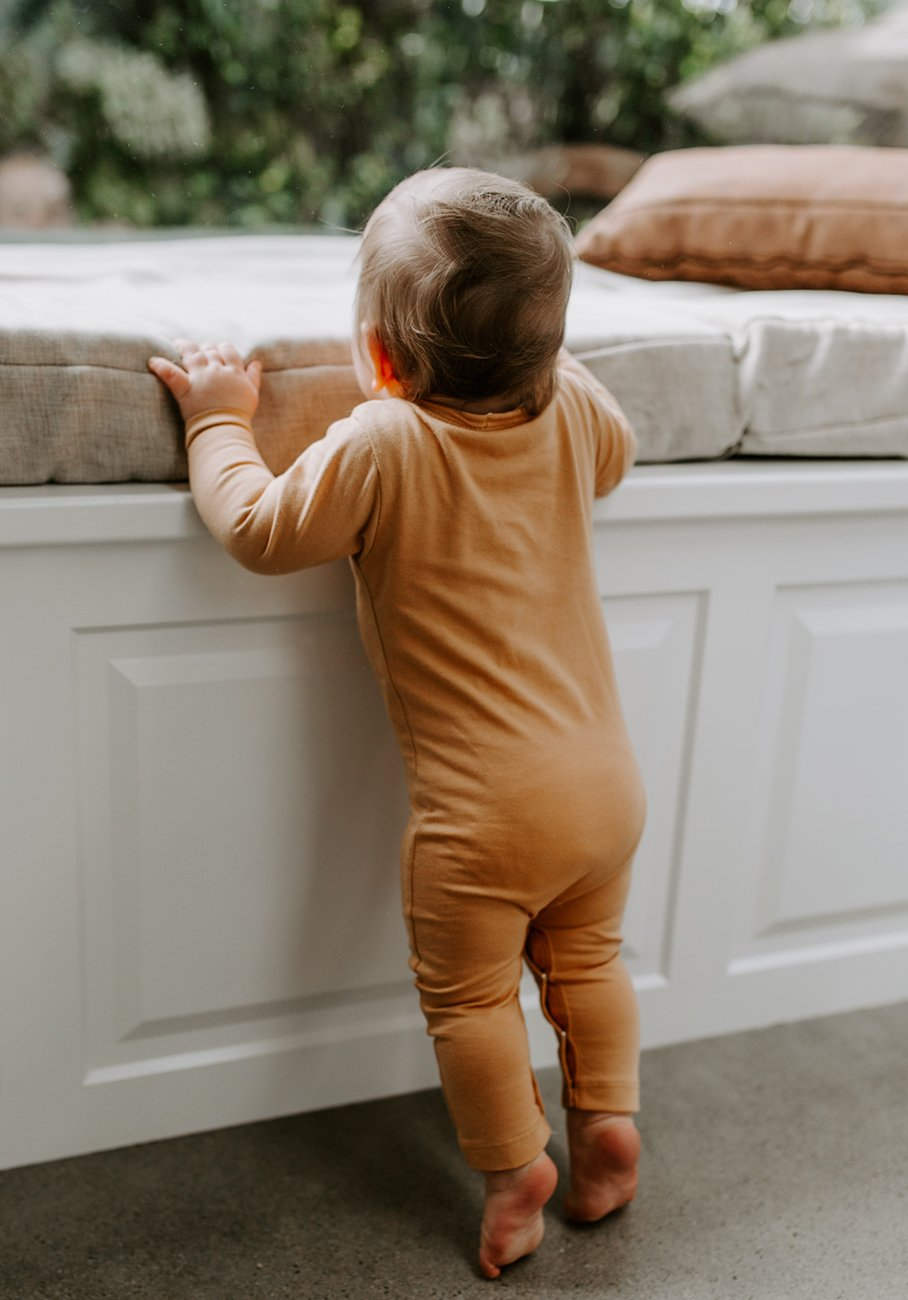 baby orange clay jumpsuit