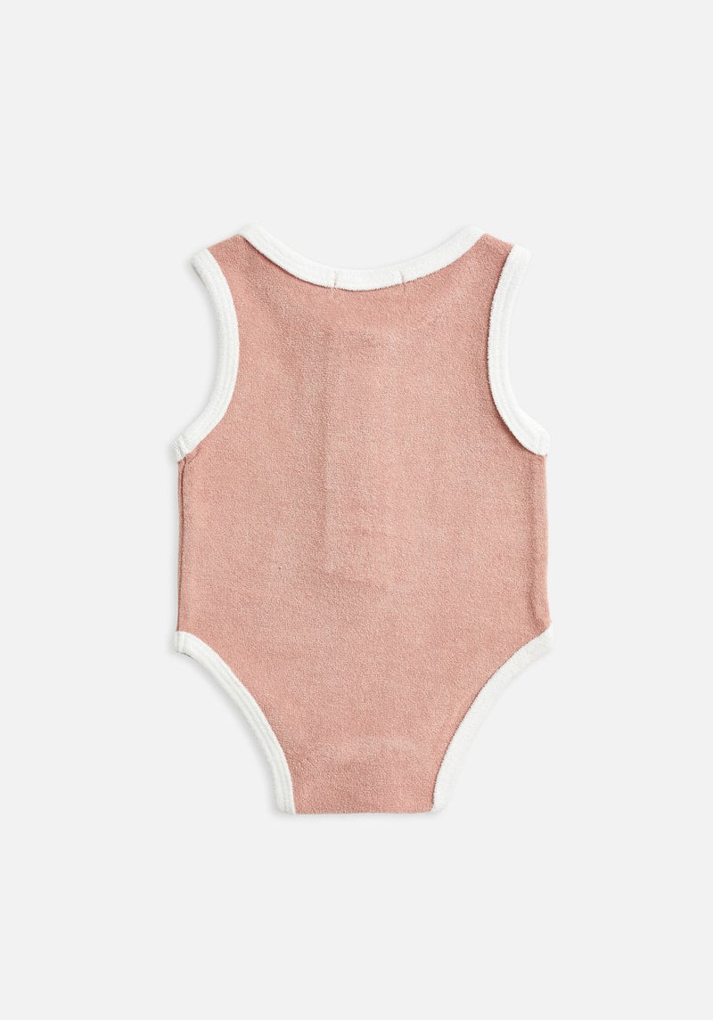 Miann & Co Baby - Terry Towelling Sleeveless Suit - Blush