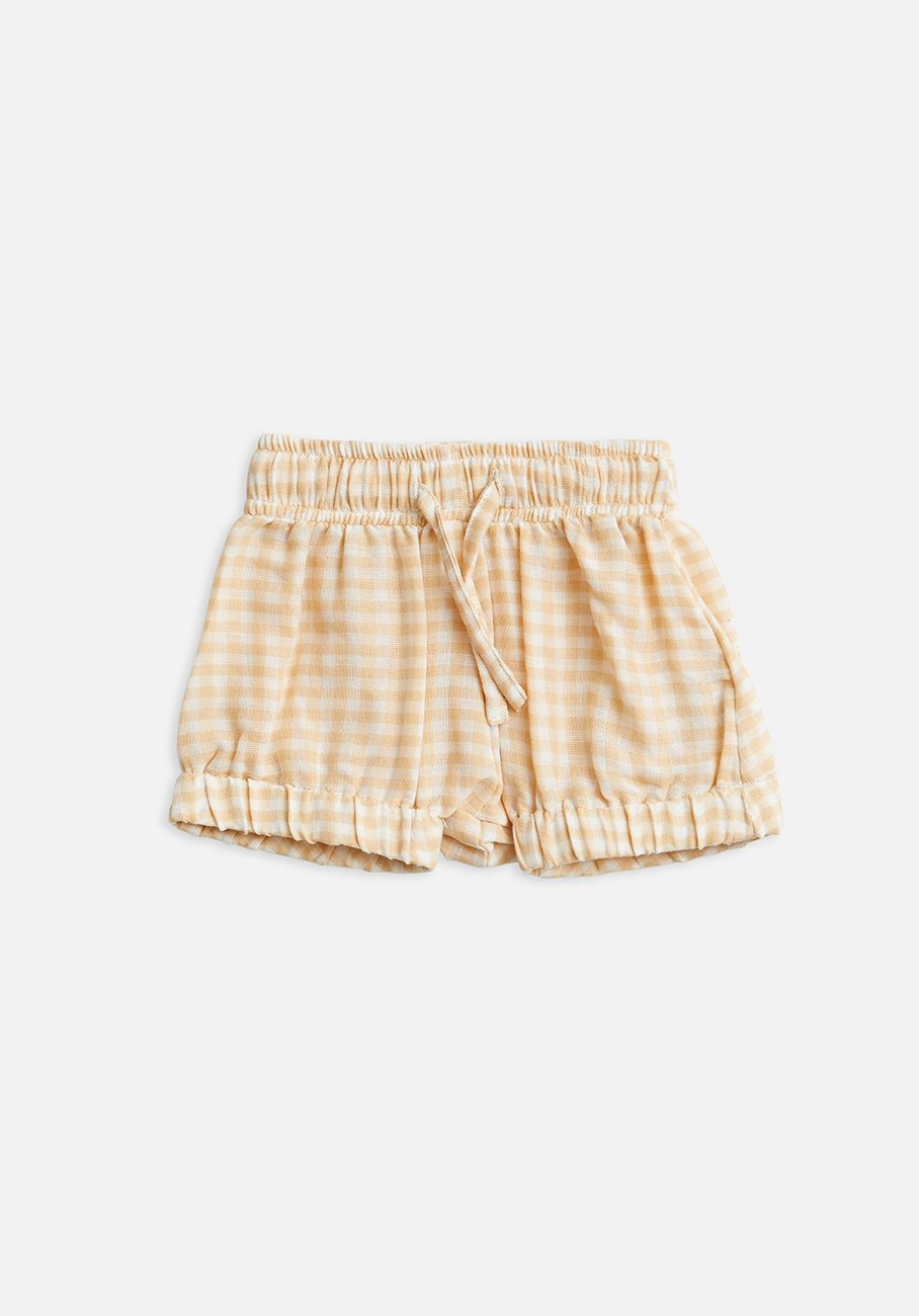 Baby Yellow gingham bloomer shorts