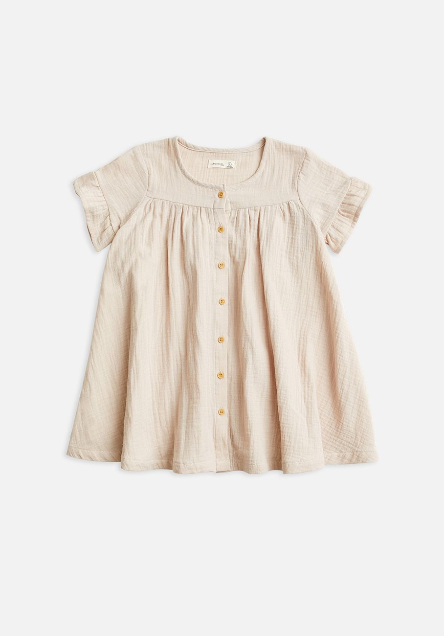 Baby pink Frill Button Through Dress
