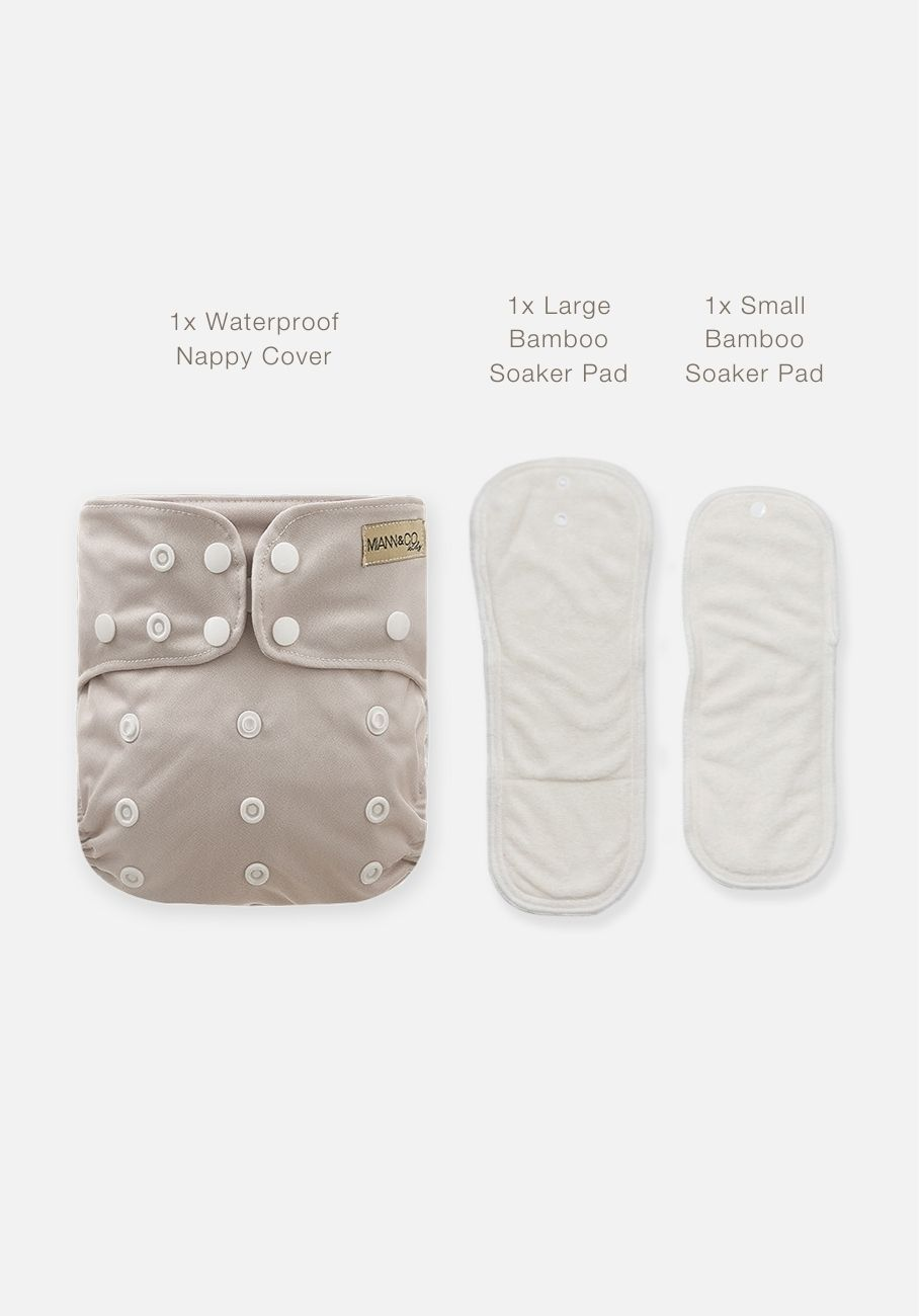 Miann & Co - Reusable Cloth Nappy - Sand