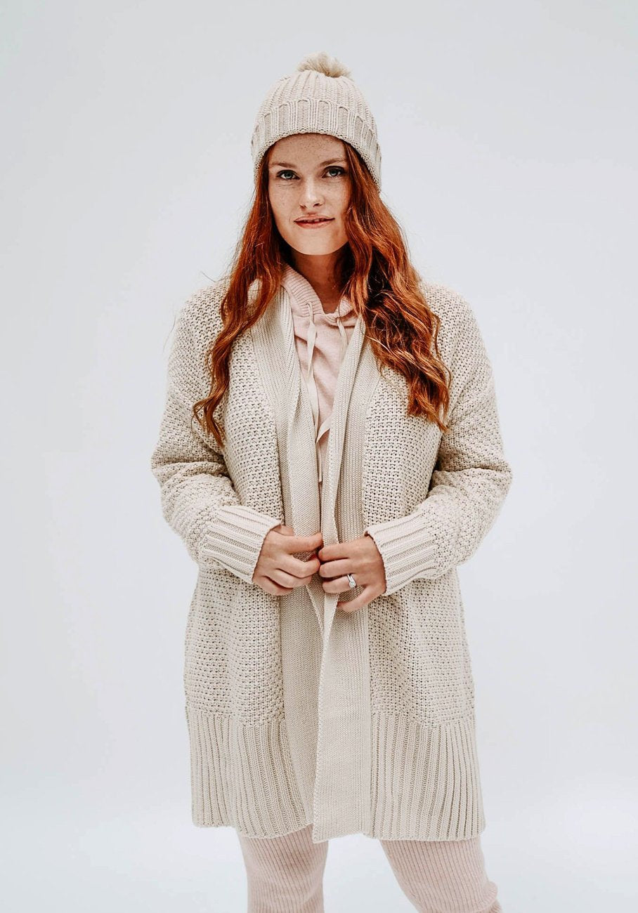 Miann & Co Womens - Delilah Knit Cardigan - Biscotti