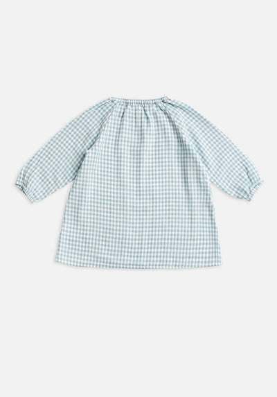 Baby Blue Gingham smock dress