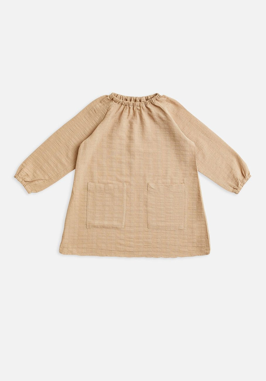Miann & Co Baby - Elasticated Smock Dress - Hazelnut