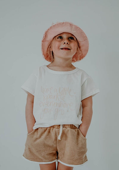 Miann & Co Kids - Boxy T-Shirt - Leave A Little Sparkle Everywhere You Go