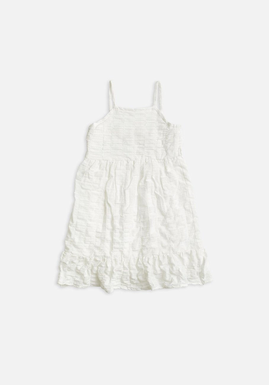 Kids white strappy dress