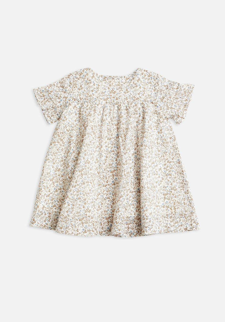 Miann & Co Baby - Frill Button Through Dress - Prairie Wildflower