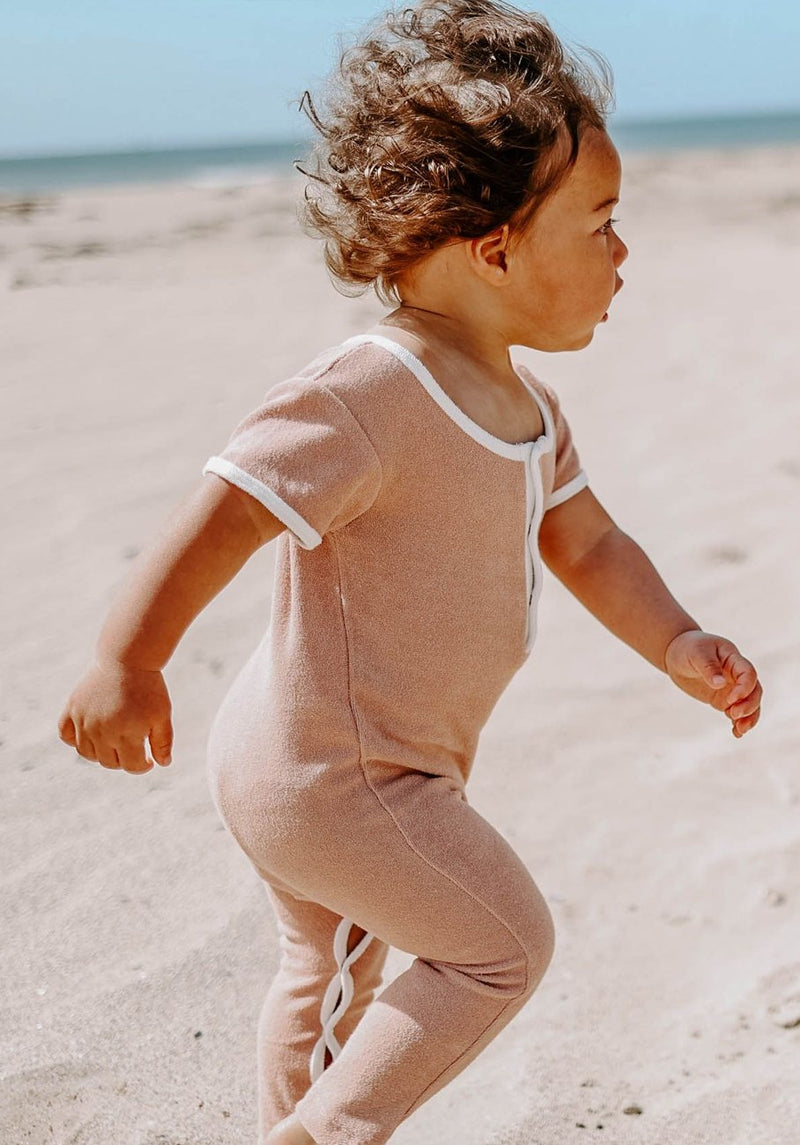 Miann & Co Baby - Terry Towelling Boilersuit - Blush