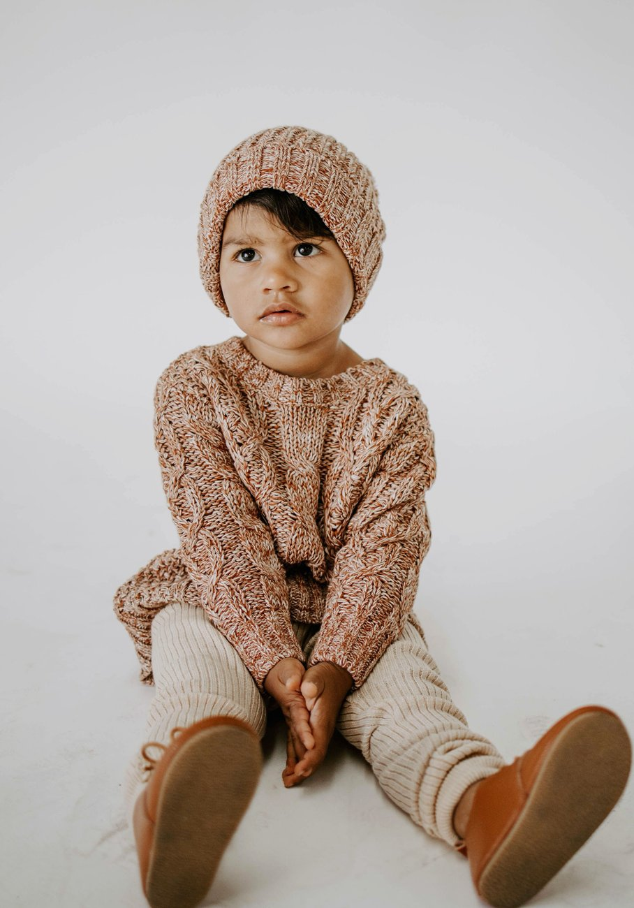 Miann & Co Kids - Cable Knit Jumper - Marmalade