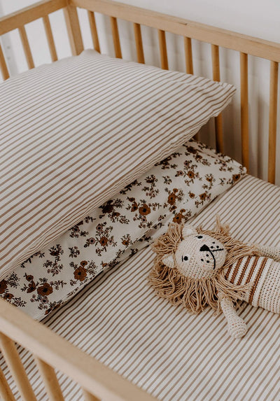 Miann & Co - Pillowcase Set - Café Au Lait Stripe