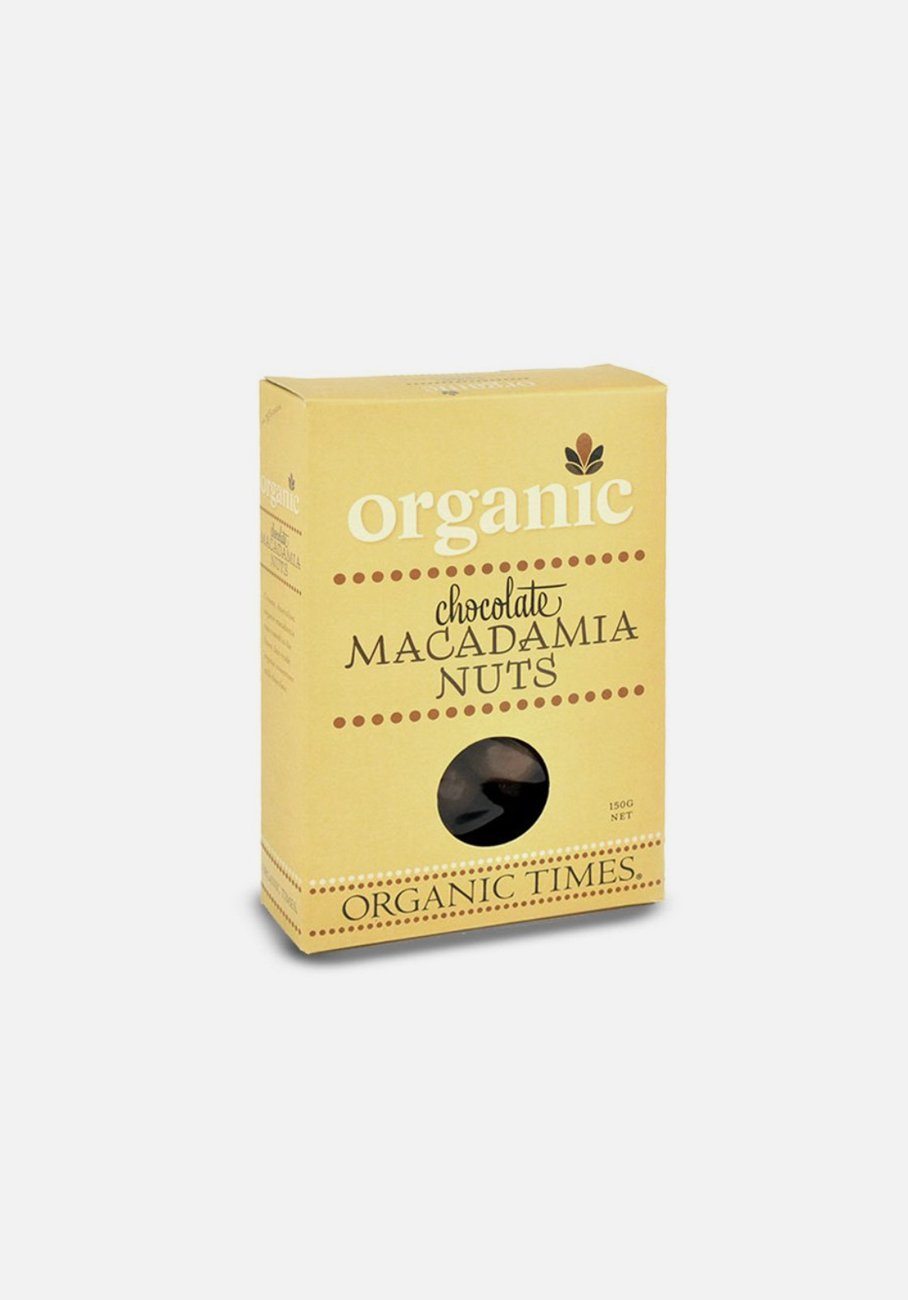 Organic Times - Milk Chocolate - Macadamia Nuts