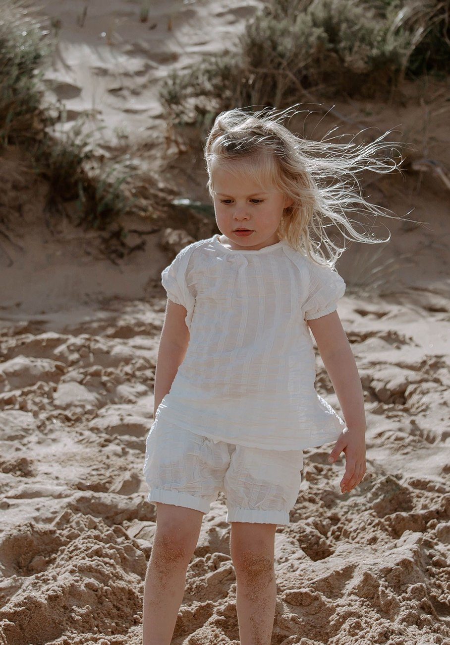 Miann & Co Kids - Woven Bloomer Shorts - Alabaster