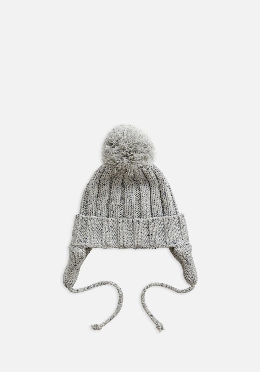 Miann & Co Baby/Kids - Rib Knit Beanie - Grey Speckle
