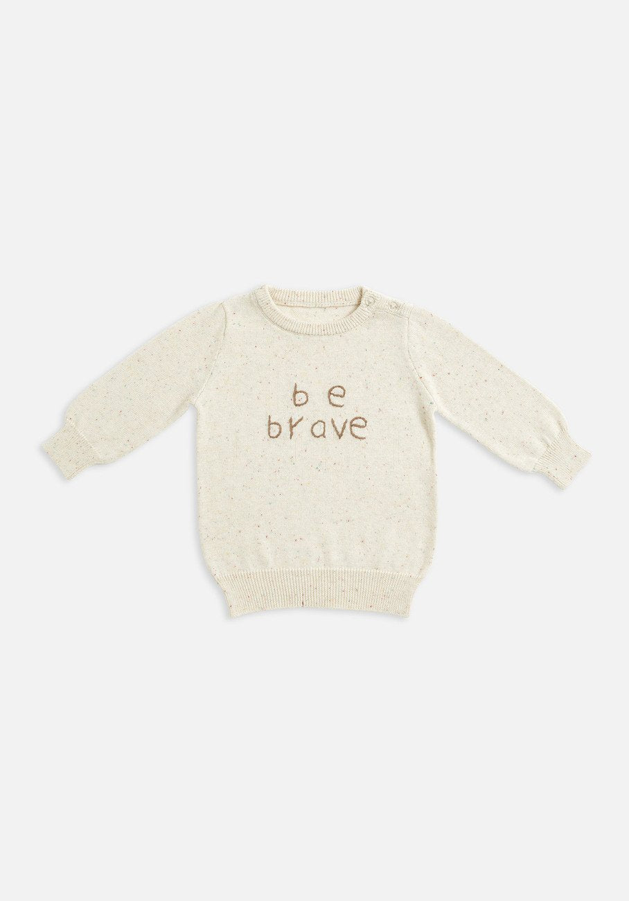 baby be brave knit jumper