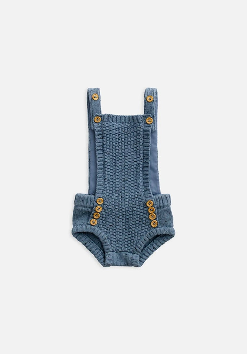 baby blue knit overall bodysuit